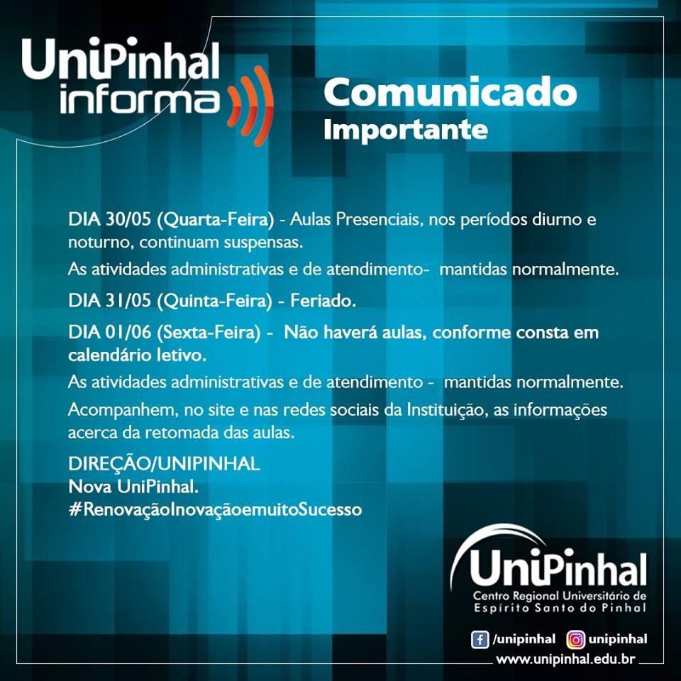 Comunicado - 30/05/2018